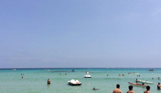 透明度抜群!パレルモの綺麗な海で初泳ぎ , Palermo , Italy