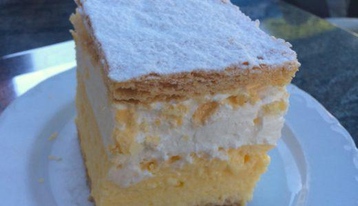 名物のクリームケーキを食べて、ブレッド湖を散策 , Bled , Slovenia