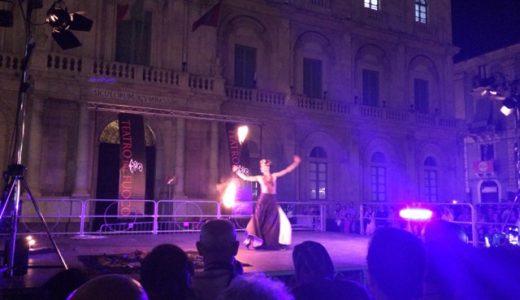 カターニアで国際ファイヤーダンスフェスティバル , Catania , Italy