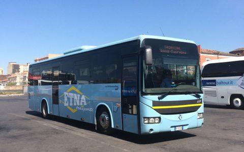カターニアからタオルミーナ(Taormina)へバス移動 , Catania , Italy