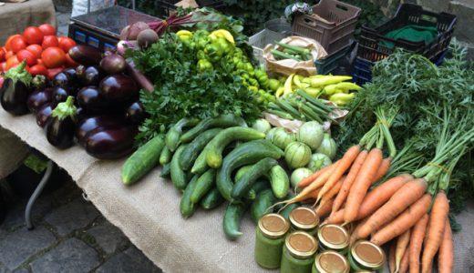 プロブディフのファーマーズマーケットで野菜を売るぞ! , Dobri dol , Bulgaria