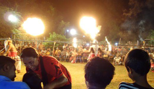 ちびっ子たちの通過儀礼!ファイヤーキャンプに参加する! , Galle , Sri Lanka