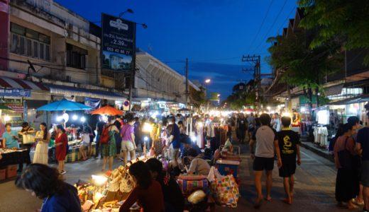 旧市街の名物「ナイトバザール」へ! , Chiang Mai , Thailand
