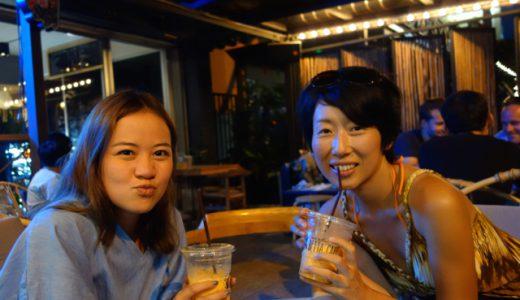 友人チビちゃんと奇跡の再会!&地元のビーチリゾート「バーンセン」へ! , Bang Saen , Thailand