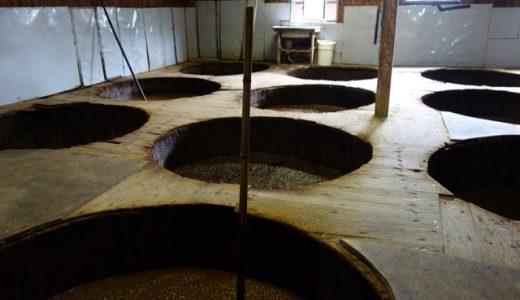 2年半もかけて、杉樽で熟成させる本物の醤油「北伊醤油」