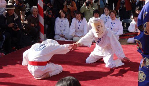 糸島最大級の珍祭!目隠し女相撲@松末五郎稲荷神社