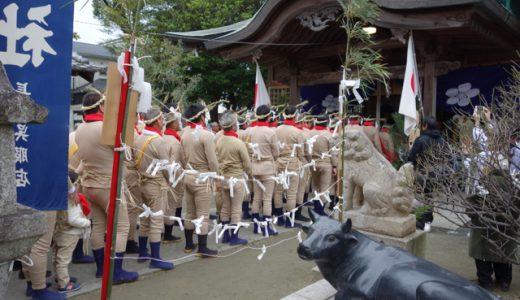 1月7日は前原の街を鬼が走る!老松神社の追儺祭(ついなさい)