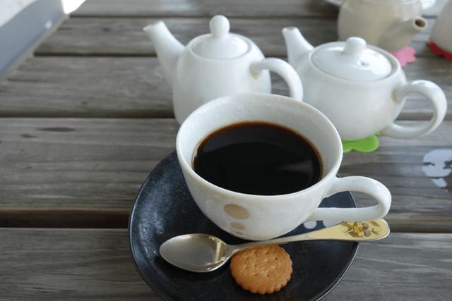 白い美術館石窯コーヒー