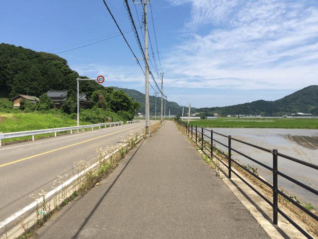 整備された歩道