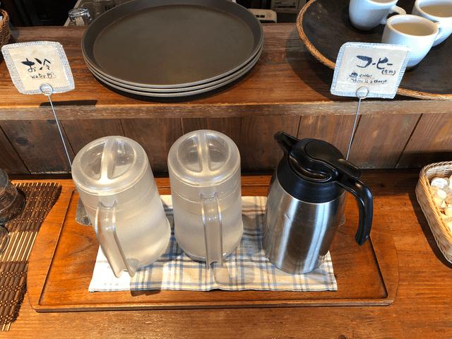 コーヒーとお水