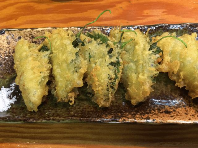 納豆の青しそ巻揚げ