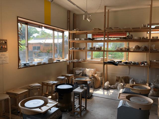 陶芸体験スペース