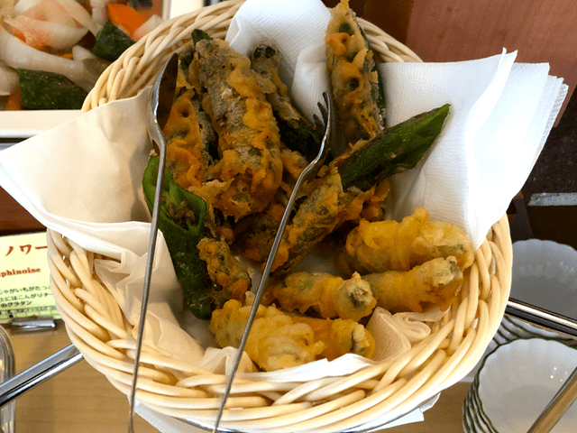 糸島野菜の天ぷら