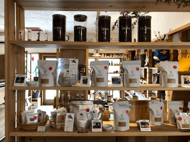 コーヒー豆の販売コーナー