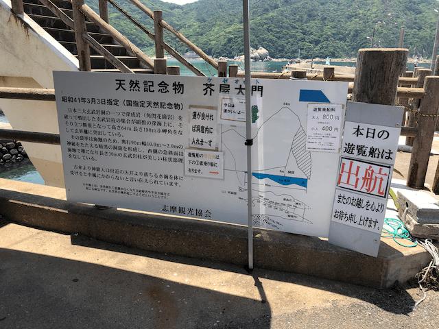 芥屋の大門の解説と料金、出航状況
