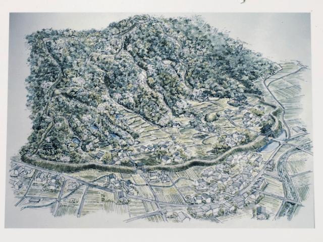 かつての山城の想像図