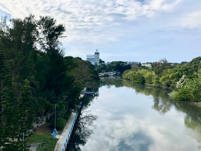 アルメンダレス川の河口付近