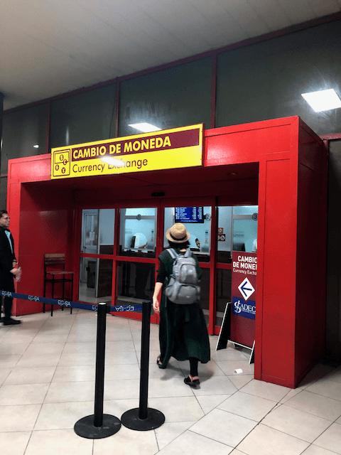 空港の両替所