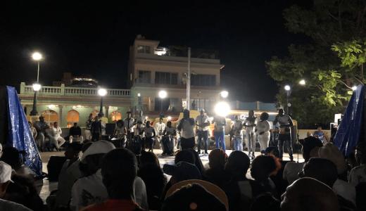 「土曜の野外ルンバイベント」@マルテ広場