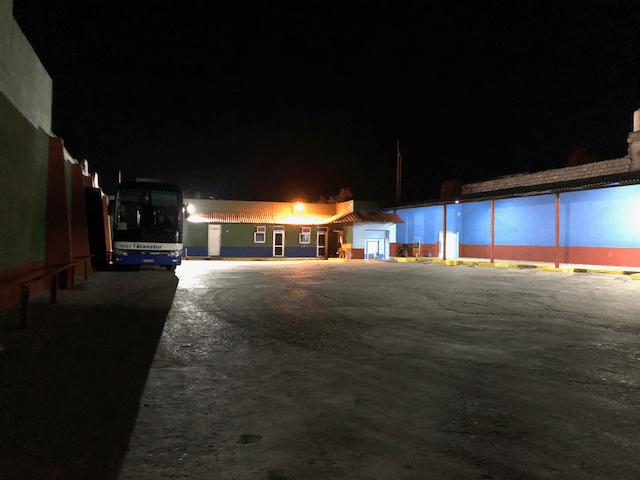 トリニダーのバスターミナル