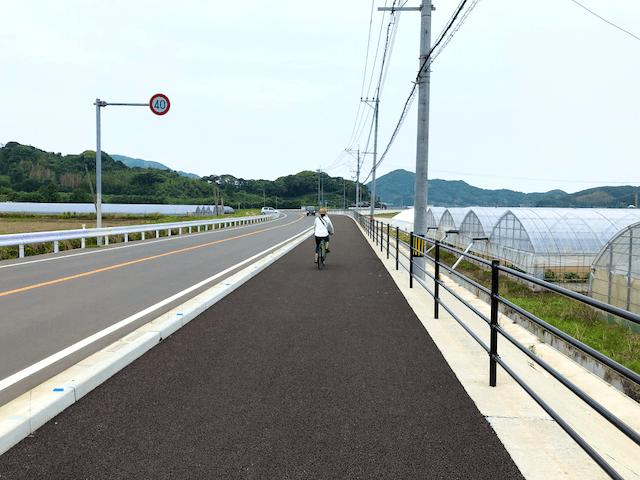 整備された自転車道・歩道